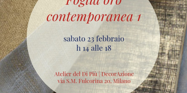 Workshop | FOGLIA ORO CONTEMPORANEA 1
